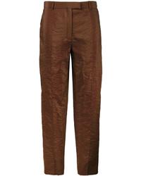 Pantalones de seda marrónes de Nina Ricci