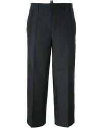 Pantalones de seda negros de Dsquared2