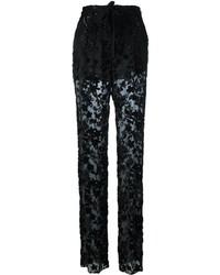 Pantalones de seda negros de Etro