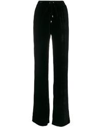 Pantalones de seda negros de Plein Sud Jeans