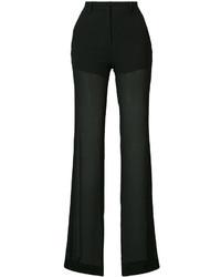 Pantalones de seda negros de Vionnet