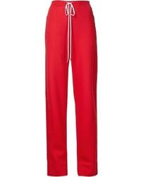 Pantalones de seda rojos de Chloé