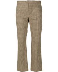 Pantalones de tartán marrón claro de Etoile Isabel Marant