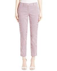 Pantalones de Tartán Violeta Claro de Michael Kors