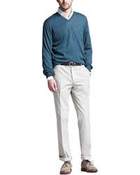 Pantalones en beige de Brunello Cucinelli