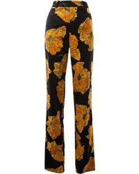 Pantalones estampados negros de Gucci