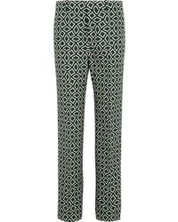 Pantalones estampados verde oscuro de Gucci