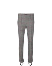 Pantalones pitillo a cuadros grises de Ermanno Scervino