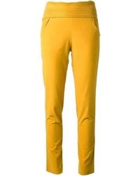 Pantalones pitillo amarillos