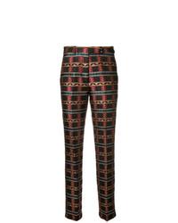Pantalones pitillo bordados marrónes de Etro