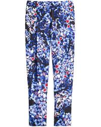 Pantalones pitillo con print de flores azul marino de J.Crew