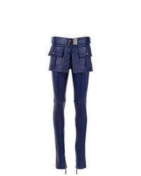 Pantalones pitillo de cuero azul marino de Andrea Bogosian