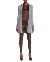 Pantalones pitillo de cuero en marrón oscuro de Ralph Lauren