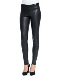 Pantalones pitillo de cuero negros de Alice + Olivia
