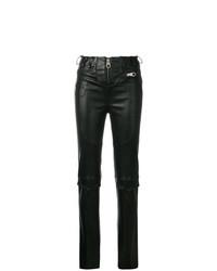 Pantalones pitillo de cuero negros de Almaz