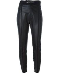 Pantalones pitillo de cuero negros de Dsquared2
