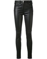 Pantalones pitillo de cuero negros de Givenchy