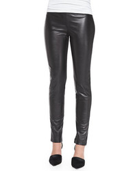 Pantalones pitillo de cuero negros de Neiman Marcus