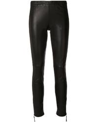Pantalones pitillo de cuero negros de P.A.R.O.S.H.