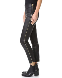 Pantalones pitillo de cuero negros de Rag & Bone