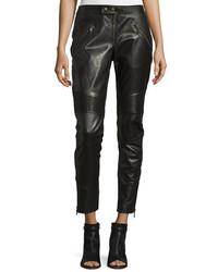 Pantalones pitillo de cuero negros de RED Valentino