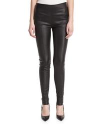 Pantalones pitillo de cuero negros de Tom Ford