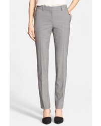Pantalones pitillo de lana grises de Theory