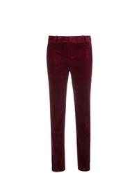 Pantalones pitillo de pana morado oscuro de Theory