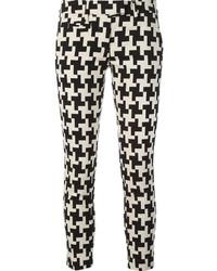Pantalones pitillo de pata de gallo en negro y blanco