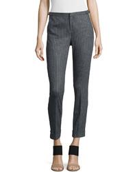 Pantalones pitillo de rayas verticales grises de ATM Anthony Thomas Melillo