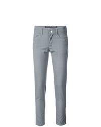 Pantalones pitillo de rayas verticales grises de Enfants Riches Deprimes