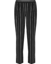 Pantalones pitillo de rayas verticales negros