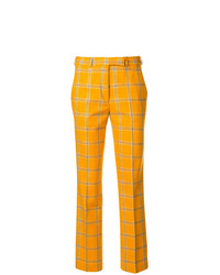 Pantalones pitillo de tartán amarillos de Etro