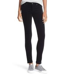 Pantalones pitillo de terciopelo negros de Rag & Bone