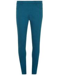 Pantalones pitillo en verde azulado