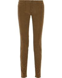 Pantalones pitillo marrónes