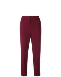 Pantalones pitillo morado oscuro de Theory