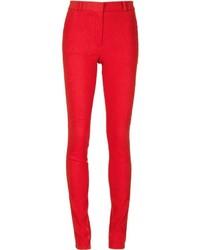 Pantalones pitillo rojos de Lanvin
