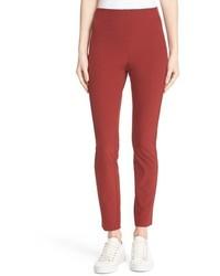 Pantalones pitillo rojos de Theory