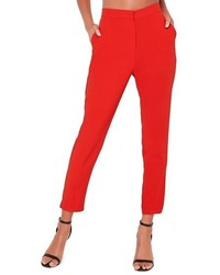 Pantalones rojos de Missguided