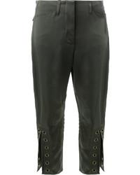 Pantalones Verde Oscuro de Fendi