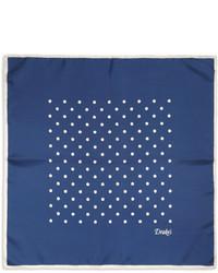 Pañuelo de bolsillo a lunares azul
