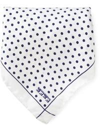 Pañuelo de bolsillo a lunares blanco de fe-fe