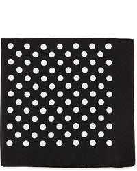 Pañuelo de bolsillo a lunares en negro y blanco de Hugo Boss