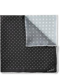 Pañuelo de bolsillo a lunares en negro y blanco de Lanvin