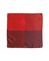 Pañuelo de bolsillo a lunares en rojo y blanco de J.Z. Richards