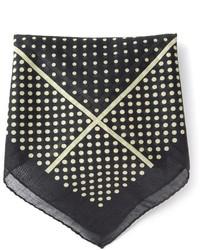 Pañuelo de bolsillo a lunares negro de Saint Laurent
