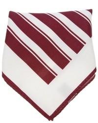 Pañuelo de Bolsillo Blanco y Rojo de Ermenegildo Zegna