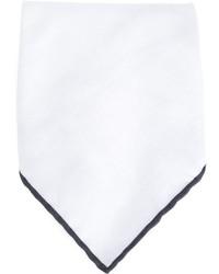 Pañuelo de bolsillo blanco de Brunello Cucinelli