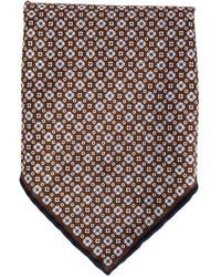 Pañuelo de bolsillo con print de flores burdeos de Brunello Cucinelli